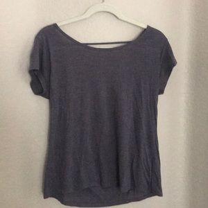 bp Tops - Gray open back shirt